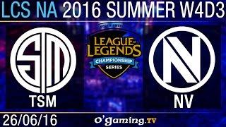 Envy vs TSM - LCS NA Summer Split 2016 - W4D3