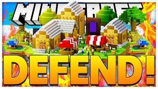 THE BEST CASTLE DEFENSE *TOWER DEFENSE* - MINECRAFT ISLAND DEFENSE - MODDED MINECRAFT MINIGAME