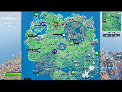 All XP COINS LOCATIONS IN FORTNITE SEASON 4 Chapter 2 (WEEK 7)