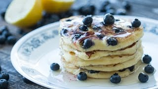 Ricotta Blueberry Pancakes Recipe by Home Cooking Adventure