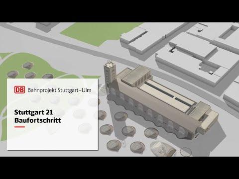 Animationsfilm Baustellenfortschritt Stuttgart 21