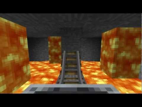 Minecraft Volcano Rollercoaster