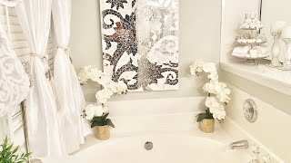 MASTER BATHROOM DECORATING IDEAS, TOUR AND ORGANIZATION
