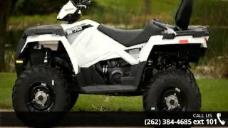 9. 2015 Polaris Sportsman Touring 570 EPS Bright White  - Ac...