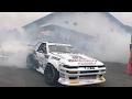 [4K] DRIFT 神技‼︎ 車輪村2017 超至近距離!!ドリフト!! 立体音響 ヘッドホン推奨《バイノーラル録音》 D1マシン パフォーマンス