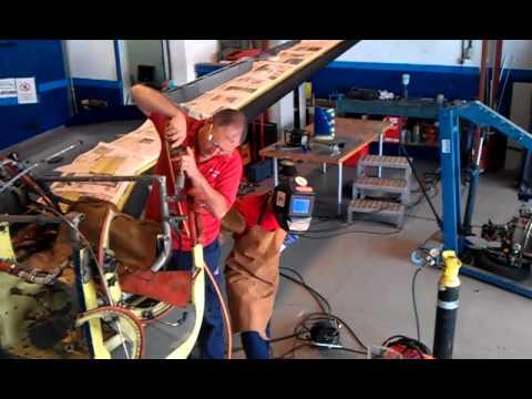 Thrust tube engine welding