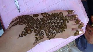 Beautiful Mehendi Design For Foot By Mehndiartistica(Best Henn...