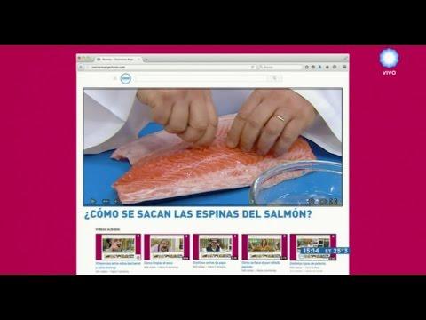 Cómo se sacan las espinas del salmón