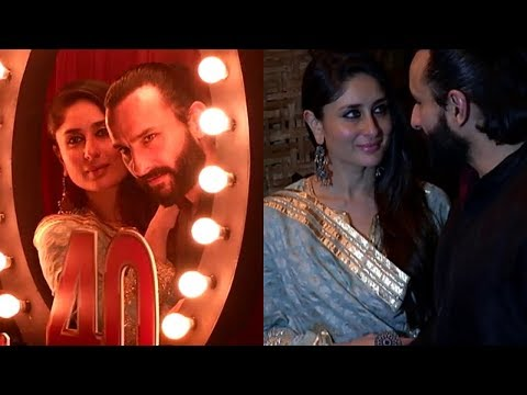 Saif And Kareena At  40 Years Celebration  Of Prithvi Theatre Festival