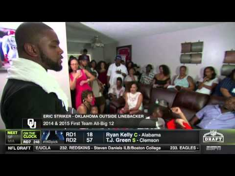Oklahoma's Eric Striker Gives Touching Speech On Draft Day