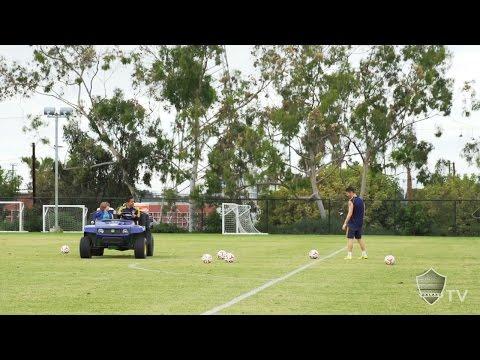 Video: Robbie Keane plays target practice at training