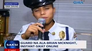 Video Saksi: Guard na ala-Brian McKnight at gurong mala-Whitney Houston ang birit, instant sikat online MP3, 3GP, MP4, WEBM, AVI, FLV Maret 2019