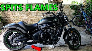 7. Kawasaki Vulcan S Two Brothers Racing Exhaust and Power Commander V | SPITS MAD FLAMES