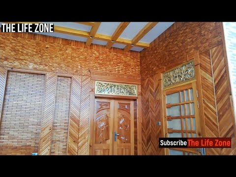 Home Entrance/Entryway Wall Wood Paling Beautiful Design