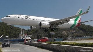 LOWEST 737 LANDING EVER! @ Skiathos, The Second St Maarten | Air Italy 737-8BK Crazy Pilot!