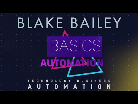 Watch ' Why You Should (and Shouldn't) Automate - Basics of Automation'