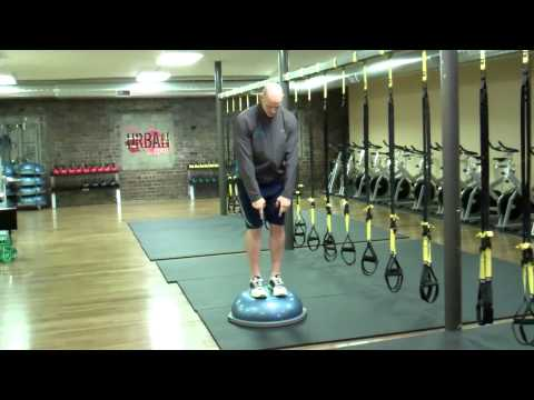 My Favorite BOSU Balance Trainer Exercises; Squat with Hand Tracking