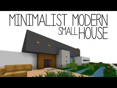 Minimalistic Modern House Minecraft Project