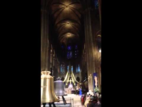 Valentines Day Service at Notre Dame Cathedral - Paris, Fra