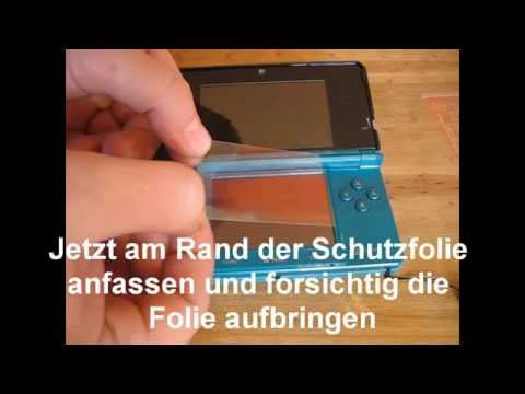 Nintendo 3DS Displayschutzfolie / Screenguard blasenfrei anbringen