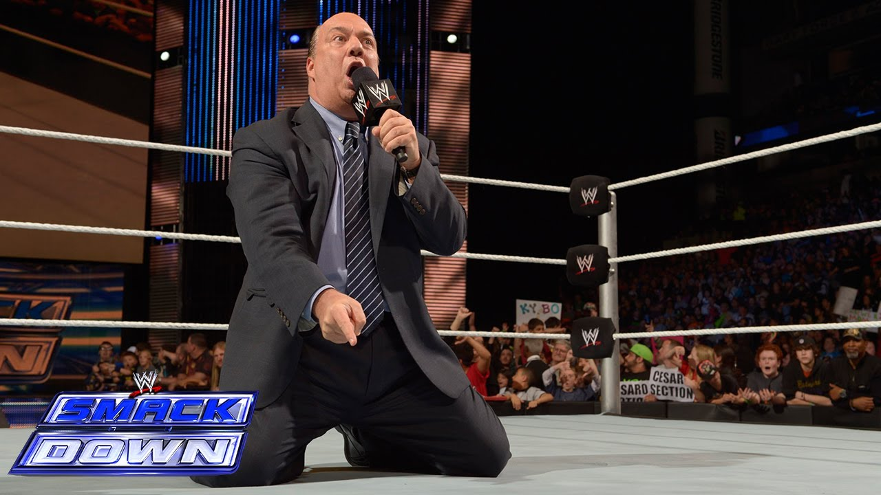 Paul Heyman comes before the WWE Universe with a very important message: SmackDown, April 18, 2014