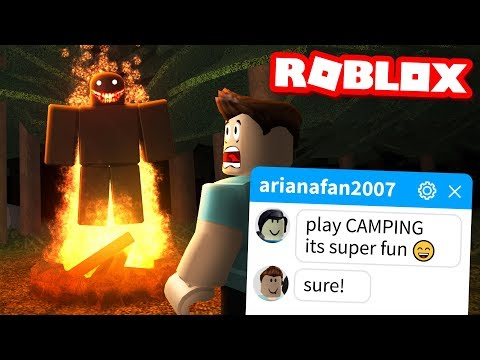 My fans TRICKED ME into playing this Roblox game.. (Camping)