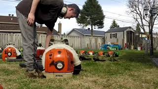 3. Getting The Trimmers, Blowers, Hedger and Chainsaw Running for 2019