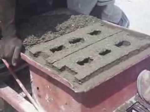 Making Concrete Blocks in Haiti with a Manual Machine