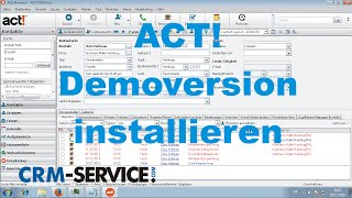 ACT! CRM Demoversion installieren - ACT! Tutorial deutsch
