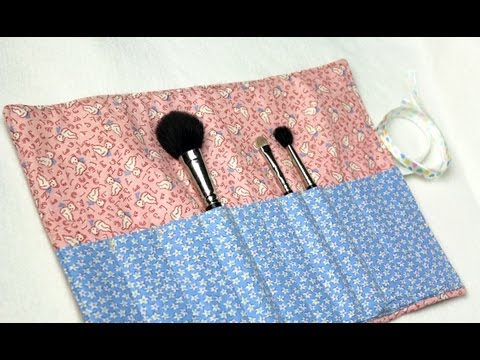 crafty - In this tutorial Vanessa of TheCraftyGemini channel will teach you how to create a quilted makeup brush carrier. This project is easy & functional! It can be...