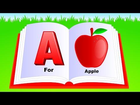 Learn Alphabet A to Z   ABC Preschool Book Learning A for APPLE Phonetics