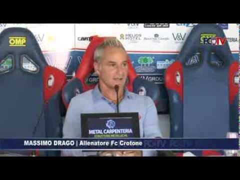 Fc Crotone, Massimo Drago in conferenza