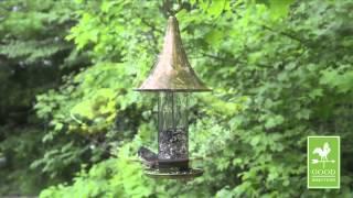 Castella Medium Bird Feeder - Copper Finish - Good Directions