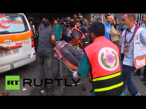 Israel - Bodies kept arriving at the Alshifa hospital, after an attack on a market in Gaza on Wednesday. Seventeen people are reported to have have been killed and over 200 people injured in the attack,...
