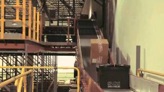 Tilt Tray Sorter and hanging garment sortation video of Stages Stores Distribution Center in Jacksonville, Ohio by SDI Industries.