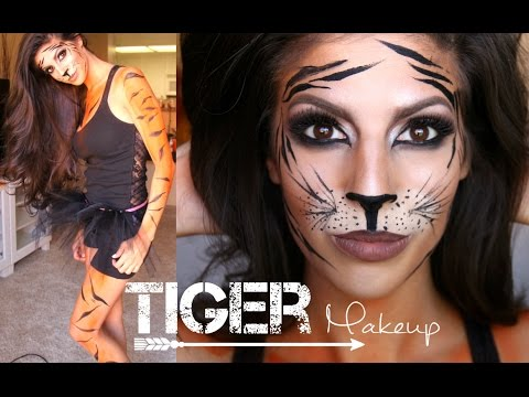 Tiger Makeup Tutorial + Outfit | Halloween 2014