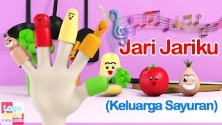 Jari Jariku - Sayuran 3D  (Vegetables Finger Family Song) | Lagu Anak Indonesia