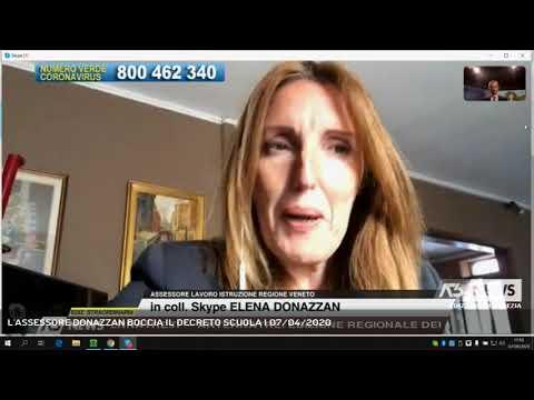 L'ASSESSORE DONAZZAN BOCCIA IL DECRETO SCUOLA | 07/04/2020