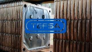 Overhead filter presses