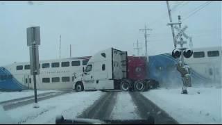 FrontRunner train hits FedEx truck