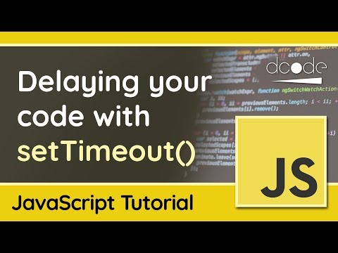 Delaying your JavaScript code with the setTimeout() function