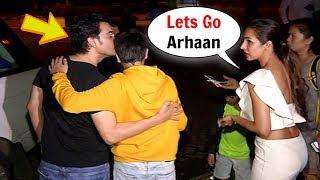 Video Arbaaz Khan Kisses Son Arhaan Khan IGNORING Ex Wife Malaika Arora Khan In Public MP3, 3GP, MP4, WEBM, AVI, FLV September 2018