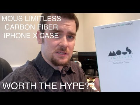 Mous Limitless - iPhone X Case Review in 4K - Real Aramid Carbon Fibre, Unboxing, In Depth Review (видео)