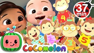 Video Five Little Monkeys + More Nursery Rhymes & Kids Songs - CoCoMelon MP3, 3GP, MP4, WEBM, AVI, FLV Juni 2019