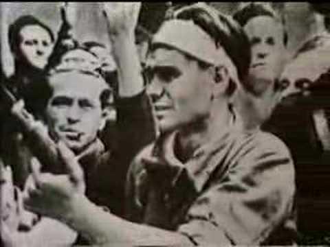 cuartel de la montaña - Imágenes del asalto al Cuartel de la Montaña, que supuso la derrota de la sublevación de julio de 1936 en Madrid. Extraído de