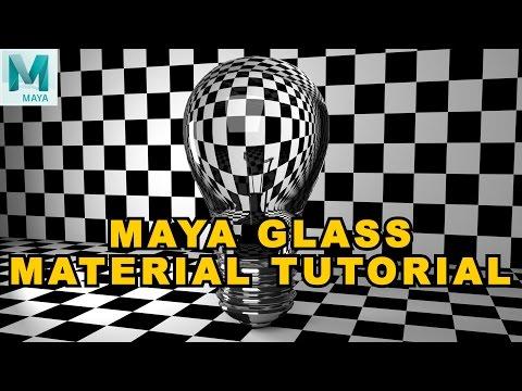how to create glass maya 2017
