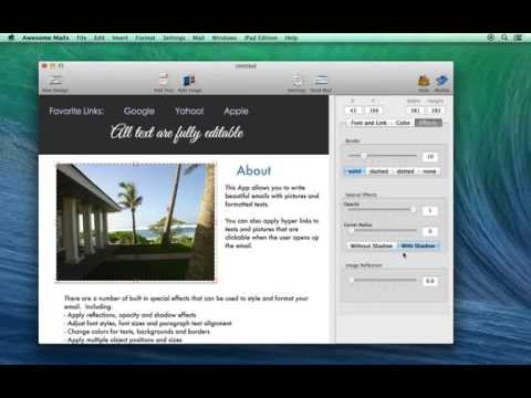 Designing a newsletter from a template using Awesome Mails for Mac