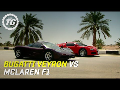 bugatti veyron vs mclaren f1 - top gear