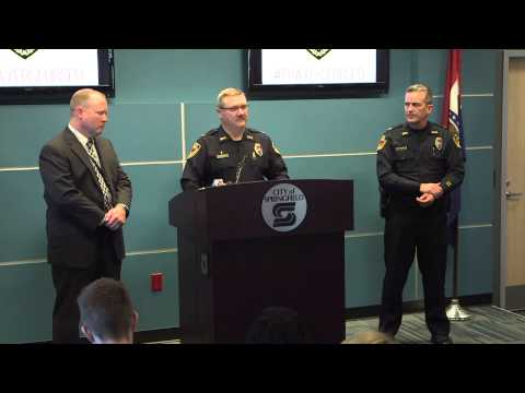 Springfield, MO Police Department News Briefing: Shooting of Officer Aaron Pearson