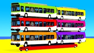 Video COLOR BUS on Long Car & Spiderman Cartoon for babies with Cars Superheroes for kids! MP3, 3GP, MP4, WEBM, AVI, FLV April 2017